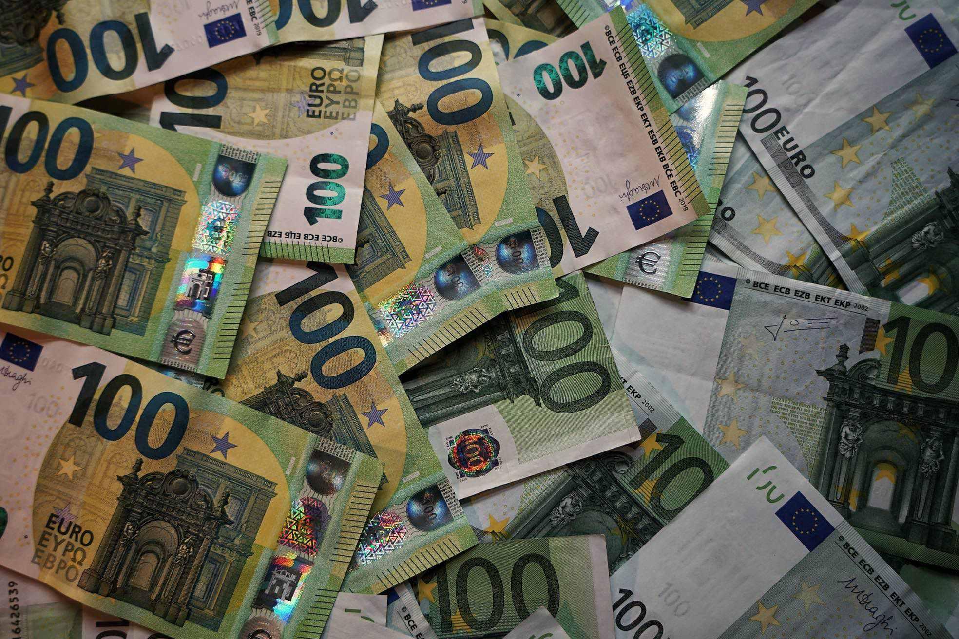 Euroscheine Höhe der Geldauflage
