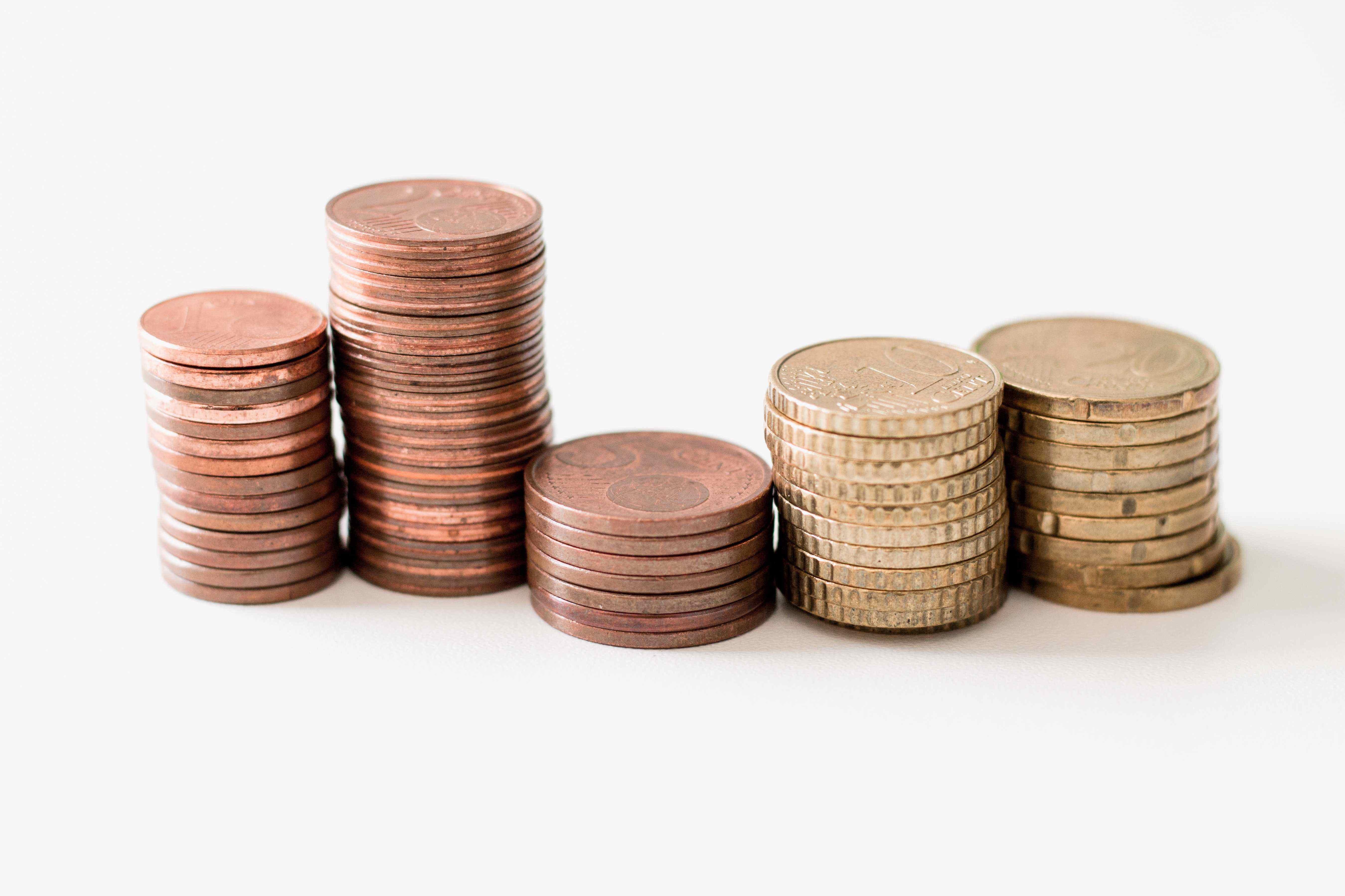 Geld Geldstapel Münzen